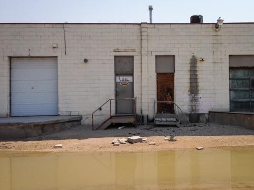 Deserted strip mall