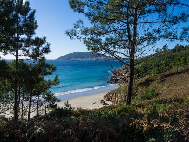 Day 37: Corcubión to Finisterre (Praia de Langosteira, Finisterre in distance)