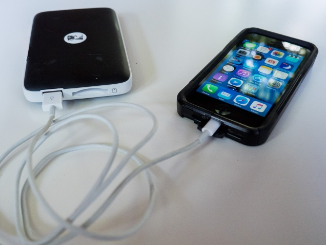 Charging my iPhone.
