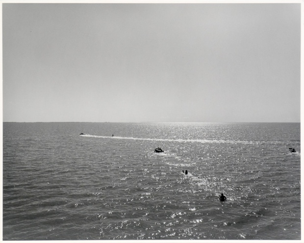 "The Lake 2, Panel One, from The Lake series (original 16"" x 20"" silver print on Oriental Seagull paper), 1983"