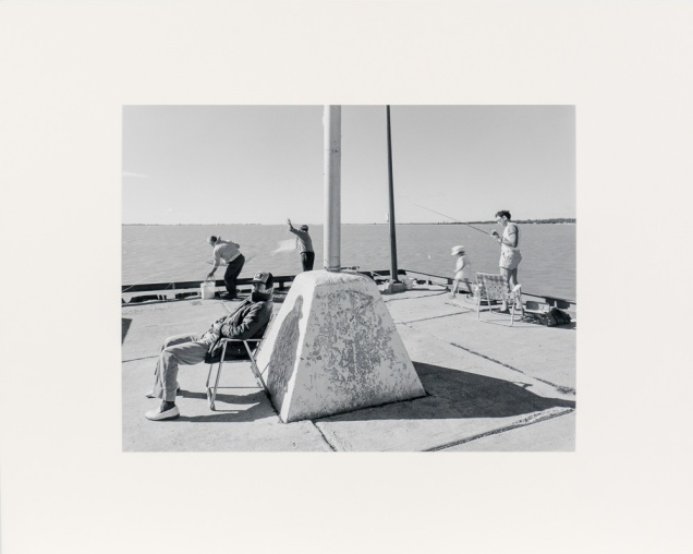 "Gimli Dock Triptych, Panel Three, from the Interlake series (original 11"" x 14"" silver print on Oriental Seagull Paper), 1984"