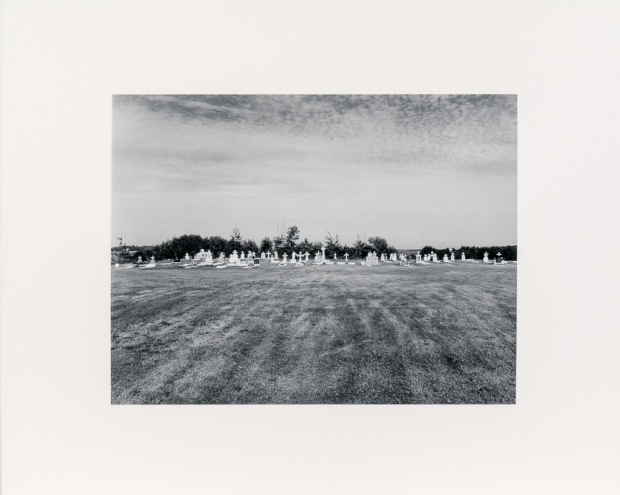 "Cemetery near Komarno, from the Interlake series (original 11"" x 14"" silver print on Oriental Seagull Paper), 1984"