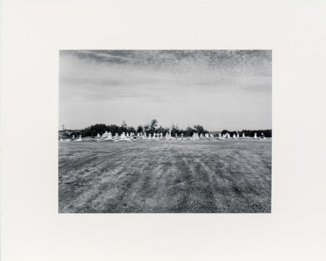 "Cemetery near Komarno, from the Interlake series (original 11"" x 14"" silver print on Oriental Seagull Paper), 1984"