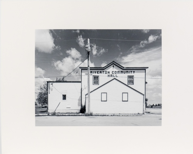 "Riverton, from the Interlake series (original 11"" x 14"" silver print on Oriental Seagull Paper), 1984"
