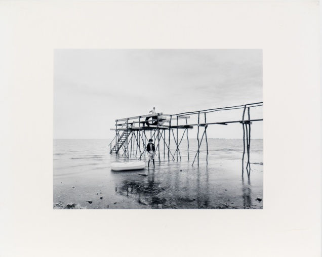 "Beach near Ponemah, from the Interlake series (original 11"" x 14"" silver print on Oriental Seagull Paper), 1984"