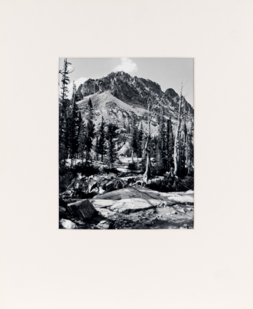 "An early print, c. 1980, taken in Glacier National Park. (original 8"" x 10"" silver print on Oriental Seagull Paper), 1982"