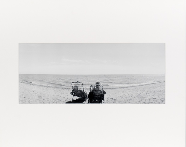 "Gimli Beach, from the series ""Under Cassiopeia's Chair"" (1985), 7"" x 18"" original print on Oriental Seagull paper."