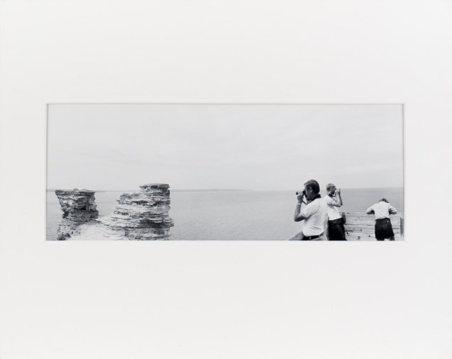 "Pictured Rocks National Lakeshore, from the series ""Under Cassiopeia's Chair"" (1985), 7"" x 18"" original print on Oriental Seagull paper."