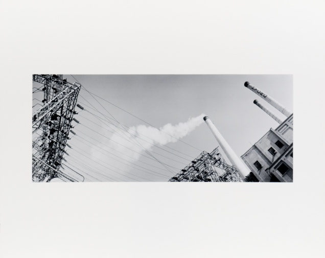 "Winnipeg Hydro, from the series ""Under Cassiopeia's Chair"" (1985), 7"" x 18"" original print on Oriental Seagull paper."