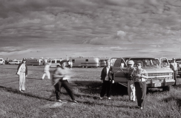 Detail. June 27, 1994. Two young caravaners from Virginia. (from the Silver series)