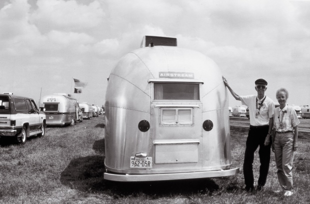 Detail. June 28, 1994. Members of the Vintage Airstream Club. (from the Silver series)