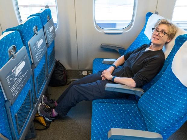 Nozomi Shinkansen (bullet train) from Hiroshima to Tokyo