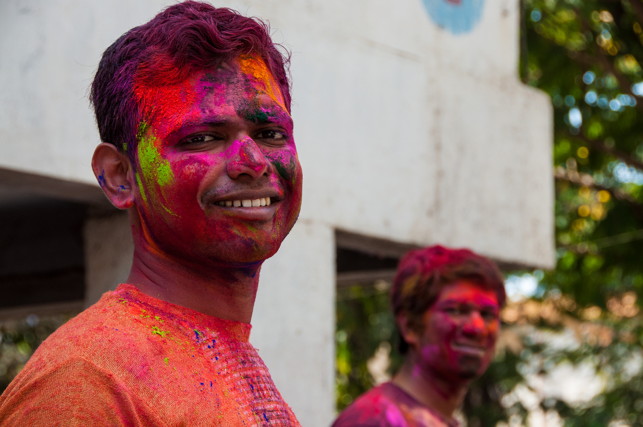 Celebrating Holi, Mumbai, 2011