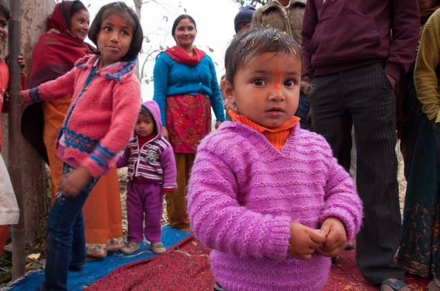 Pilgrims on the road to Garhmukteshwar, India, 2011
