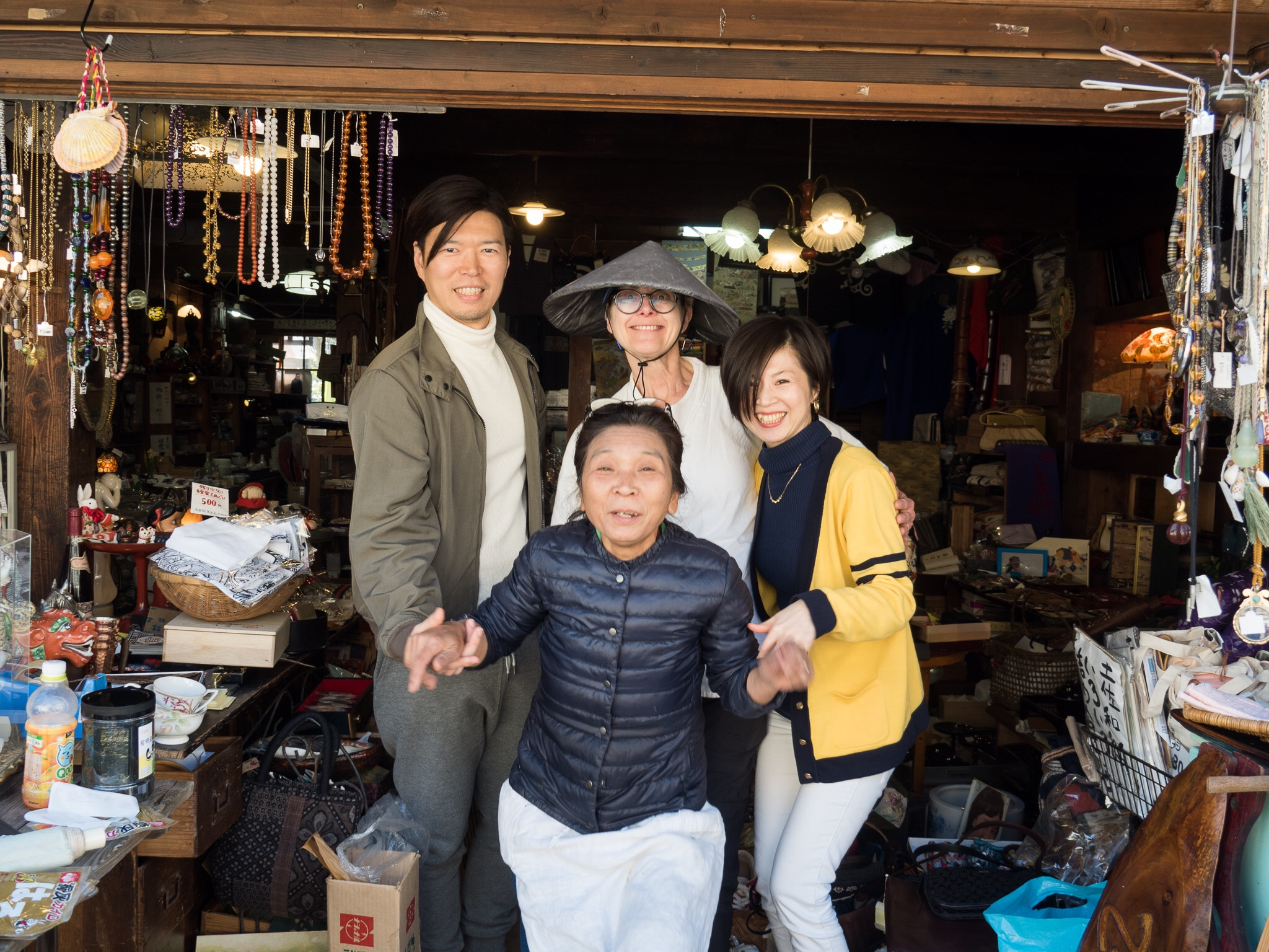 Gail (my favourite pilgrim) and friends, Shikoku, Japan, 2017