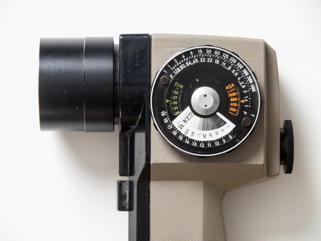 Pentax spotmeter with Zone VI sticker.