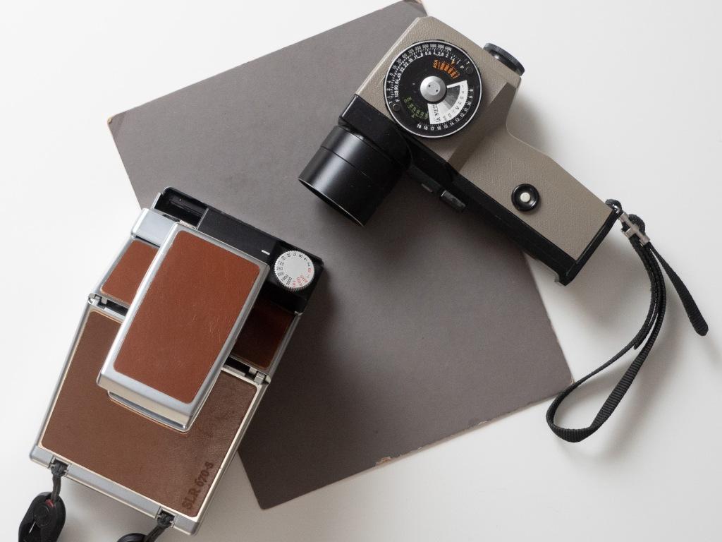Necessary equipment: a good spotmeter (Asahi Pentax Spotmeter V shown here), an 18% grey card and a Polaroid camera with user-adjustable aperture f-stops and/or shutter speeds (like the MiNT 670SLRs shown here).