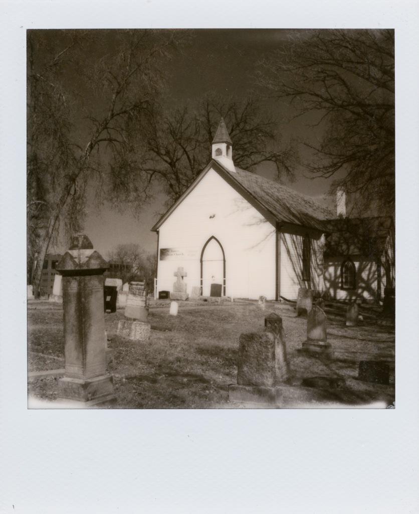 Polaroid 600 Black and White film.